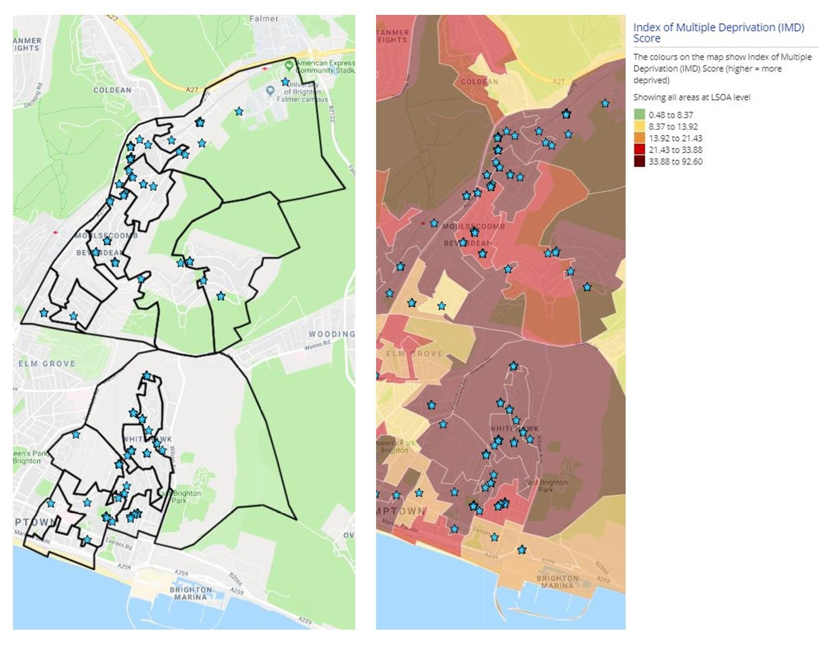 East Brighton Index of Multiple Deprivation