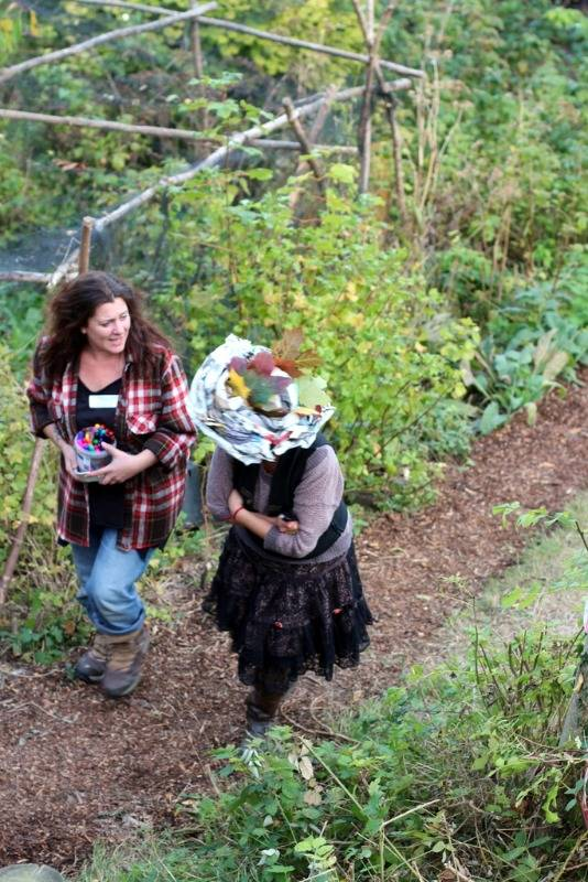 moulsecoomb forest garden october 2014 paper hats