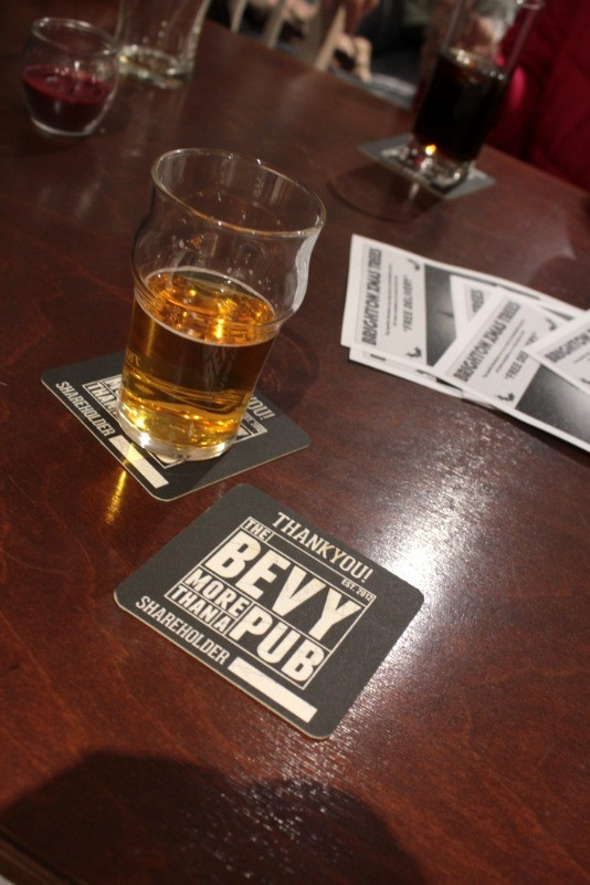 the bevy beer mat