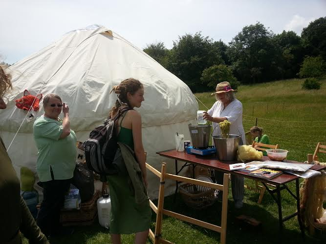 knitting the map at the festival of nature 2014