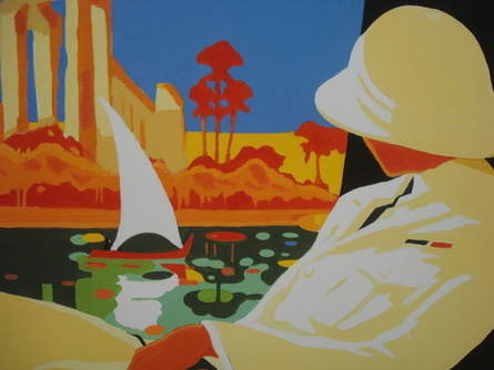On the Nile, Limited Edition Print by Mel Burgum