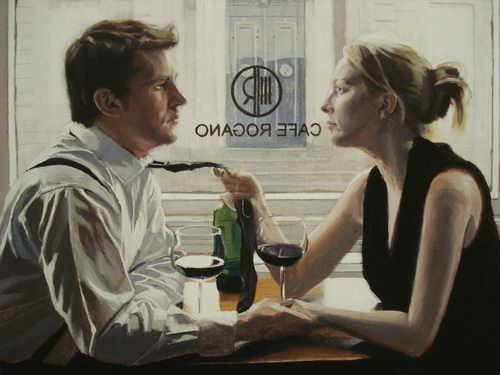 Romantic Lunch Limited Edition print by Iain Faulkner