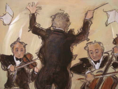 Three Musicians, print by Charlotte Lyon