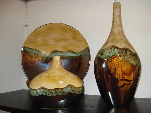 Desert Storm Collection hand made Art Pottery
