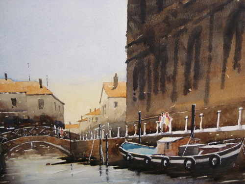Venice undisturbed, watercolour painting by Alan Smith