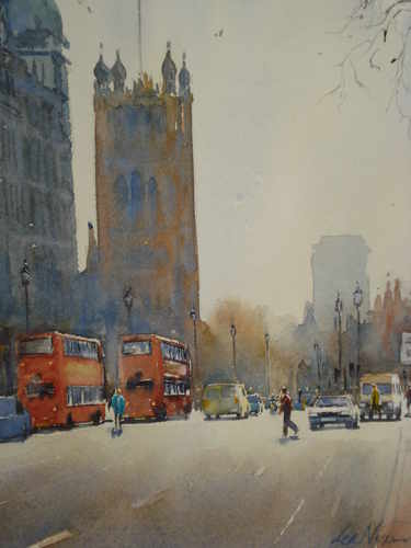 westminster, watercolour by Lea Nixon