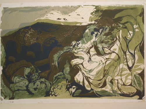 Near Blackburn, Lancashire, silkscreen limited edition by Lyndon Evans, c19