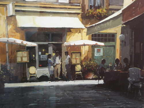 Cafe, Bar, Aix print by Jeremy Barlow