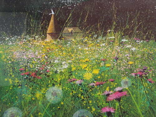 Field, Flowers and Farm, limited editon print by Paul Evans