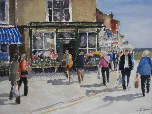 Corner Shop, Southwold, watercolour painting by William Perkins