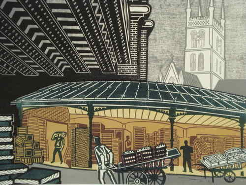 Borough Market, Limited Edition print by Edward Bawden