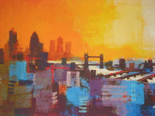 London Panorama, Limited Edition print by Colin Ruffell