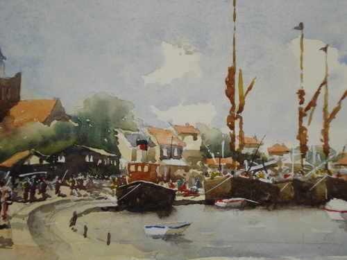 Maldon Prom, watercolour painting by Alan Smtih