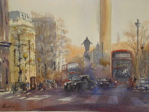 London, watercolour by Lea Nixon