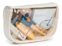 Make-Up Bag Clear Lid - Cream