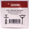 Gervin GV11 Red Fruit Wine Yeast - sachet