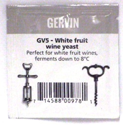 Gervin GV5 White Fruit Wine Yeast - sachet