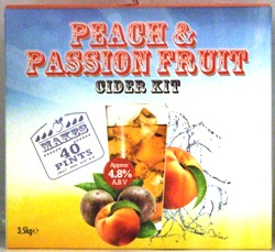 Youngs Peach and Passion Fruit flavoured Cider
