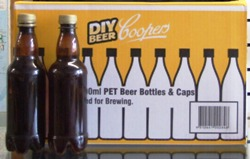 Coopers PET Amber Beer Bottles for storing homebrewed beer, cider or lager