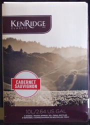 Kenridge Classic Cabernet Sauvingnon 30 bottle red wine kit