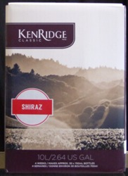 Kenridge Classic Shiraz 30 bottle red wine kit for making wine at home