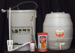 Complete Mini Brewery Starter Kit with Basic 5 Gallon Barrel or Bottles