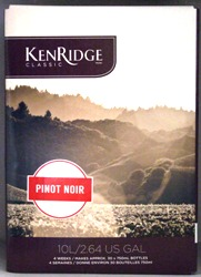 Kenridge Classic Pinot Noir 30 bottle home red wine making kit