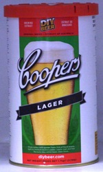 Coopers Australian Style Lager for brewing at home