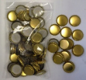Crown Caps - Gold Packed in 100s