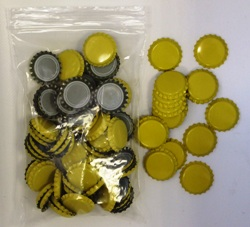 Crown Caps - Yellow (100s)