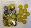 Crown Caps - Yellow Packed in 100s