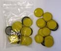 Crown Caps - Yellow (45s)