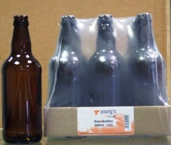 Amber Glass Beer Bottles for storing homebrewed beer, cider or lager - 15s