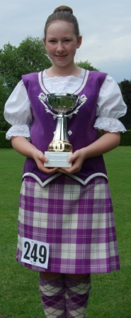 Nicola at Colchester with her Trophy
