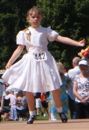 Jo in National Dress at Colchester 2009