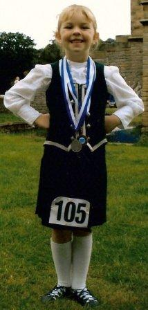 Joanne at Chatsworth with her medals