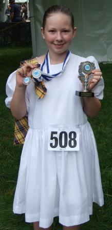 Nicola at Chatsworth with her medals