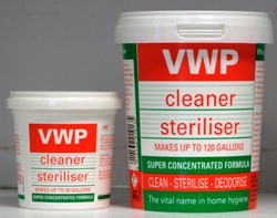 VWP Cleaner/Steriliser - 100g and 400g tubs