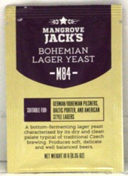 Mangrove Jack Bohemian Lager Yeast (M84) - 10g sachet