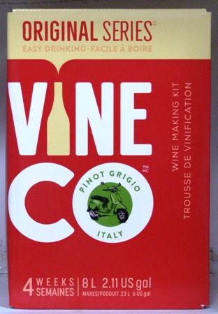 Vineco Original Series Pinot Grigio (Italy) 30 bottle home white wine makin