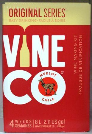 Vineco Original Series Chilean Merlot 30 bottle home red wine making kit
