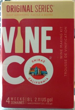 Vineco Original Series Shiraz 30 bottle red wine kit for making wine at hom