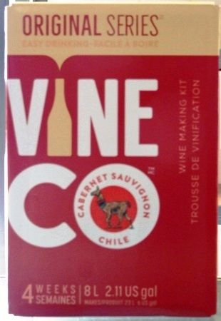 Vineco Original Series Cabernet Sauvingnon 30 bottle red wine kit