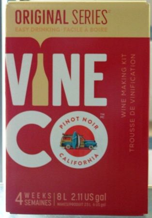 Vineco Original Series Pinot Noir 30 bottle home red wine making kit
