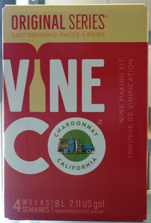 Vineco Original Series Chardonnay 30 bottle home white wine making kit