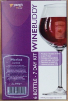 Winebuddy Merlot - 6 bottle red wine kit