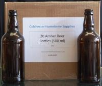 Amber Beer Bottles for storing homebrewed beer, cider or lager - 20s