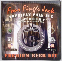 Bulldog Beer Four Finger Jack American Pale Ale homebrew kit
