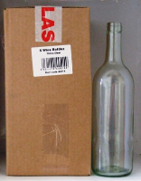 Wine Bottles - 75cl clear glass pack of 6