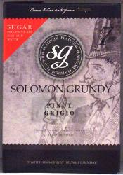 Solomon Grundy Platinum Pinot Grigio